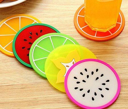 خرید زیر لیوان میوه ای 5 عددی درجه یک