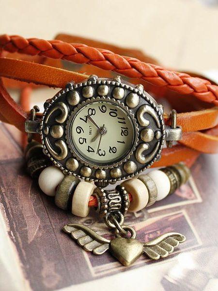 خرید ساعت مچی بند چرم الیزابت زنانه