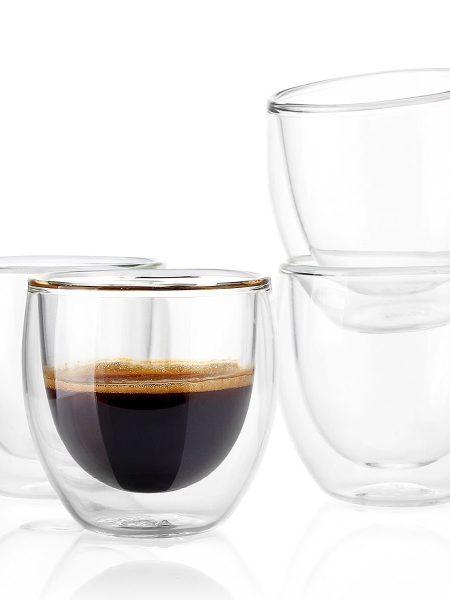 فنجان دو جداره شیشه ای