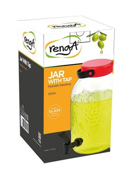 کلمن شیشه ای 3 لیتری شیردار Renga