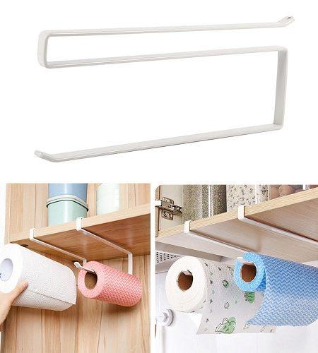 آویز حوله و دستمال توالت مدل شلفی دو عددی مخصوص حمام و دستشویی