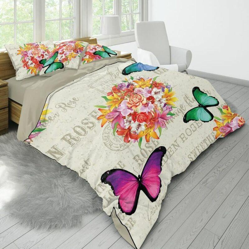 خوشخواب سه بعدی دو نفره طرح پروانه